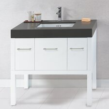 """Calabria 36"""" Bathroom Vanity Base Cabinet in White"""