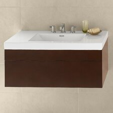 "Rebecca 36"" Single Wall Mount Bathroom Vanity Set"