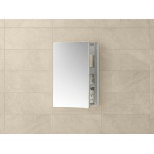 "Contempo 23"" x 30"" Metal Frame Medicine Cabinet in Brushed Nickel"