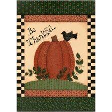 Be Thankful Pumpkin Garden Flag