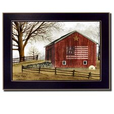 Flag Barn by Billy Jacobs Framed Painting Print