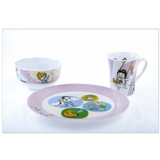 Portion Control Sammie and Sax Kidliga Children's 3 Piece Individual Place Setting