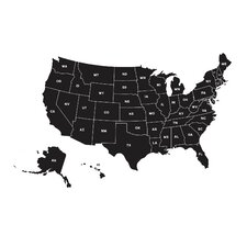 Map of the United States Small Wall Decal
