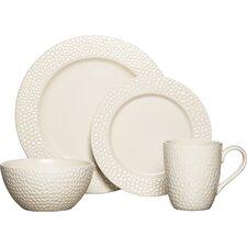 Hayes White 16 Piece Dinnerware Set