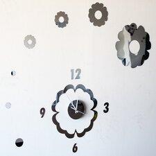 Flower Power - Modern Mirror Wall Art Clock
