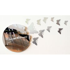 Free from The Clock - Modern Mirror Butterfly Wall Art Clock