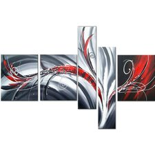 Abstract Flow 5 Piece Original Painting on Canvas Set