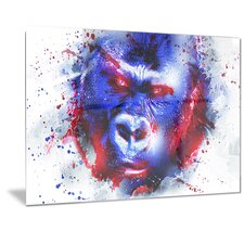 Metal 'Watchful Gorilla' Graphic Art