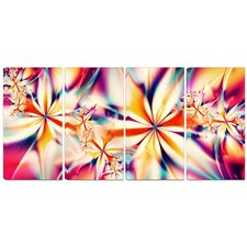 Metal 'Crystalize Pink Floral' Graphic Art
