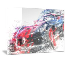 'Red and Black Sports Car' Graphic Art