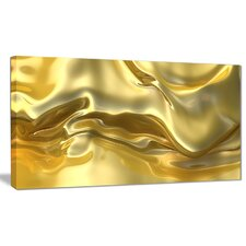 'Golden Cloth Texture' Graphic Art on Wrapped Canvas
