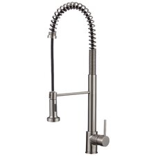 Single Handle Deck Mounted Kitchen Faucet with Pull-Down Spray and Soap Dispenser