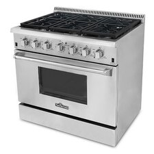 Professional 5.2 Cu. Ft Gas Convection Range