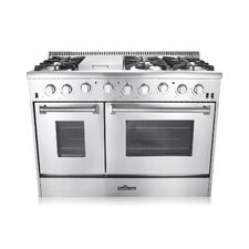 6.2 Cu. Ft. Gas Convection Range in Stainless Steel