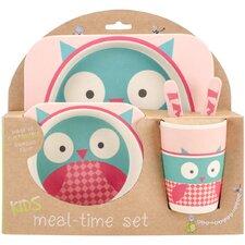 Bamboo Fiber Kids 5 Piece Dinnerware Set