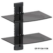DVD Player Double Shelf Wall Mount