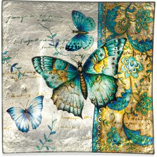 Radiant Butterfly Square Plate (Set of 3)