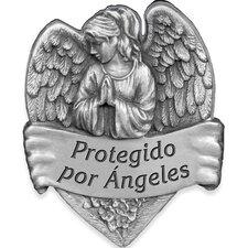 Protegido Por Angeles Spanish Decorative Visor Clip (Set of 4)