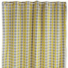 Argyle Giraffe Cotton Shower Curtain