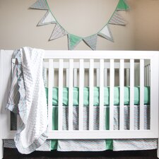 Friendly Fox Simply Striking 4 Piece Crib Bedding Set