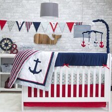 Anchors Away 6 Piece Crib Bedding Set