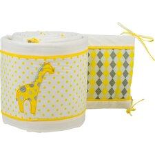 Argyle Giraffe Crib Bumper