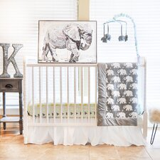 Indie Elephant 6 Piece Crib Bedding Set