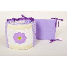 Lavender Butterfly Crib Bumper