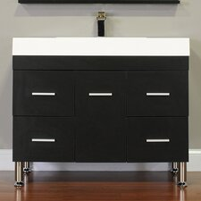 "Ripley 39.25"" Single Modern Bathroom Vanity Set"