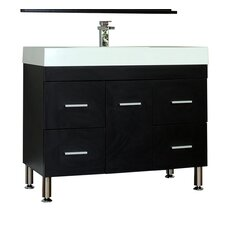 "Ripley 39.25"" Single Modern Bathroom Vanity Set"