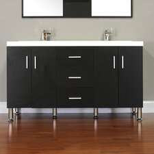 "Ripley 56.5"" Double Modern Bathroom Vanity Set"