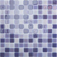 """Lux Eco 12.375"""" W x 12.375"""" L Glass Mosaic in Northern Lights"""