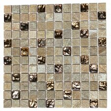 "Paragon 12"" x 12"" Glass Mosaic Tile in Golden Honey"