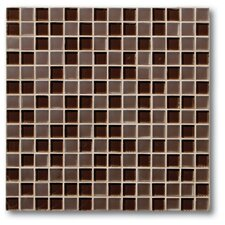 "Studio 0.75"" x 0.75"" Glass Mosaic Tile in Cocoa"