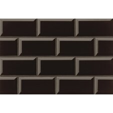 "Nantucket 3"" x 6"" Beveled Edge Ceramic Subway Tile in Gloss Stormy Night"