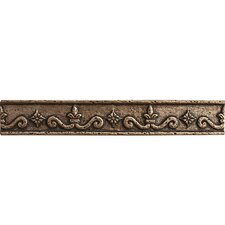 "8"" x 3"" Renaissance Border Accent Tile in Brown"