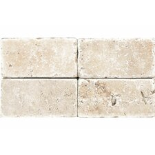 """Rustic Tumbled 3"""" x 6"""" Stone Tile in Ivory"""