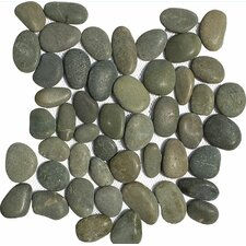 Stone Pebble Tile in Green