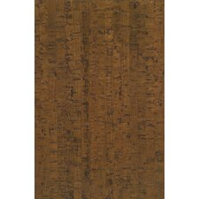 "7-16/25"" Planks - Micro Bevel Cork Hardwood Flooring in Line Mocha"