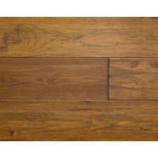 "Rustic Old West 7"" Engineered Hickory Hardwood Flooring in Saddle"