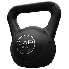 Vinyl Kettlebell in Black