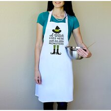 100% Cotton A Witch Lives Here With Her Little Monsters Apron