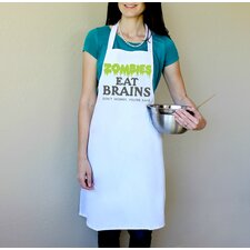 100% Cotton Zombies Eat Brains Don't Worry You're Safe Apron