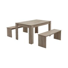 Petra Extendable Dining Table and 2 Benches