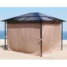 3,6m x 3m Rechteckig Pavillon mit Seitenwand-Set