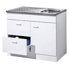 Start Kitchen Sink Cabinet with 1 Door, 2 Extensions and 1 Sink