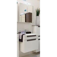 60cm Wandmontierter Waschtisch Siena mit Spiegel und Schrank
