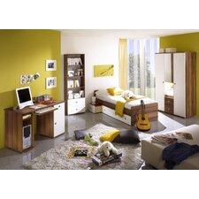 4-tlg. Jugendzimmer Set in Walnuss / Weiß