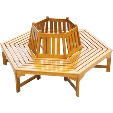 6-Sitzer Baumbank Ontario aus Berangan Holz