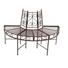 2-Sitzer Baumbank-Halbkreis aus Metall